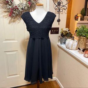 Beautiful Lace Overlay Motherhood Formal Dress